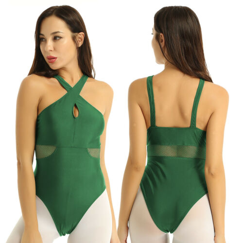 Details about  /US Women/'s Ballet Gymnastics Skate Leotard Criss Cross Unitard Bodysuit Dancewer