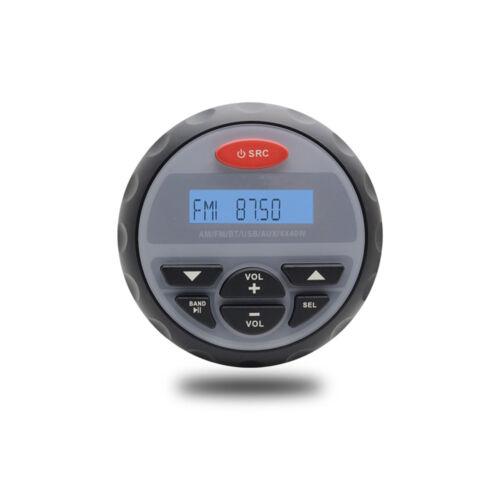"12V 4/"" Waterproof Bluetooth Marine Audio Gauge Radio FM//AM MP3 Stereo"