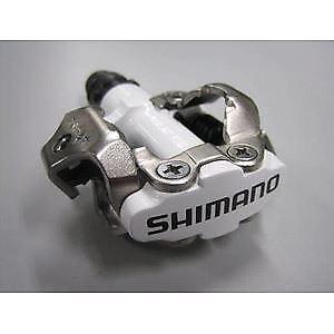 Shimano Pedali M520 SPD MTB Pedali-meccanismo a due lati, bianco