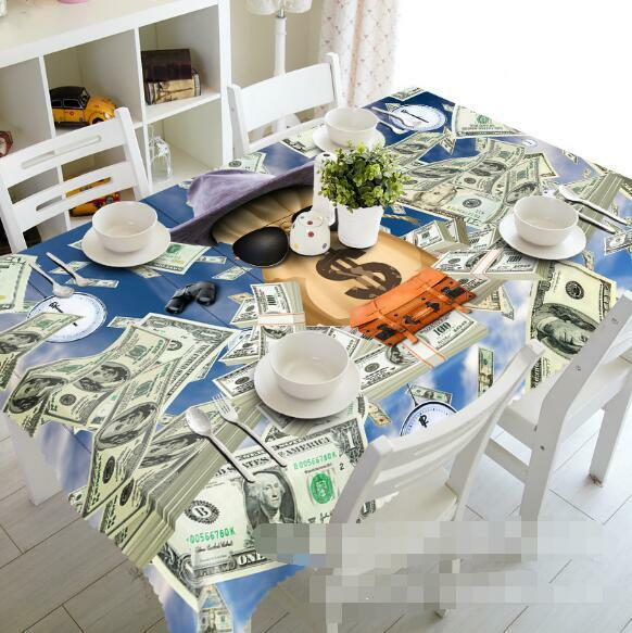 3D Fly Money 32 Tablecloth Table Cover Cloth Birthday Party Event AJ WALLPAPER