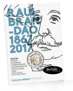Piece-2-euros-commemorative-PORTUGAL-2017-Raul-Brandao-Brillant-Universel