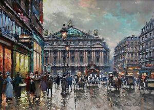 The-Palais-Garnier-Paris-Opera-Painting-by-Antoine-Blanchard-Reproduction