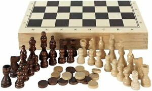 New-3-in1-Folding-Wooden-Chess-Set-Board-Game-Chess-Checkers-Backgammon-Draughts