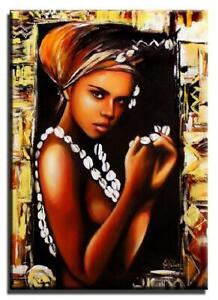 Afrika-Olbild-Gemaelde-Leinwand-Olbild-Bild-Bilder-G00818