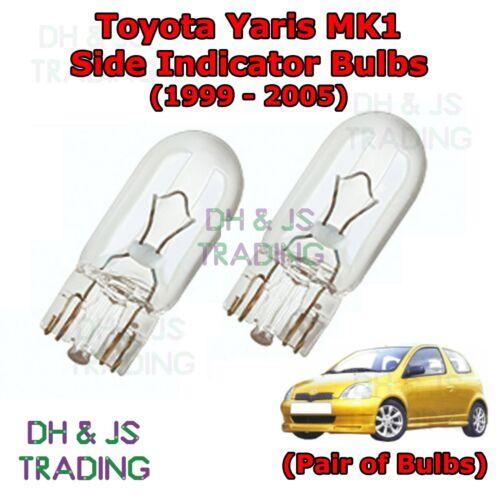 Toyota Yaris Side Indicator Bulbs Side Indicator Bulbs Bulb Light MK1 99-05
