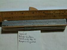 6pt Bank Gothic Medium 11 Letterpress Type Atf 533 Complete Caps Amp Fig Font