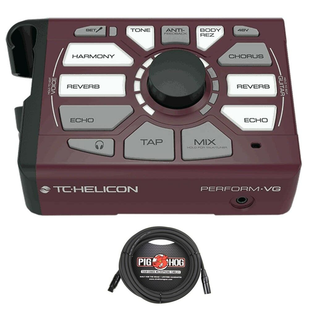 TC Helicon Perform-VG Vocal and Acoustic Guitar Prozessor mit 20'Mic Cable