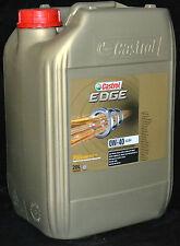 20 Liter Castrol EDGE FST TITANIUM Motoröl 0W40 MERCEDES BMW PORSCHE 0W-40