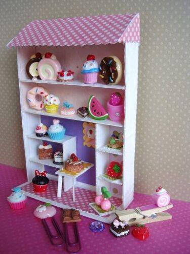 20 Little Cupcake /& Ice-cream Resin Flatback Button//cute//Craft//Cute//bow//clay B17