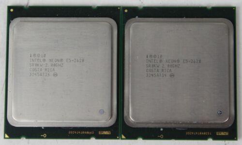 Intel Xeon E5-2620 2.00GHz 6-Core Server CPU LGA2011 15MB SR0KW Lot of 2