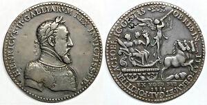 CA-1552-FRANCE-HENRI-II-1547-1559-LARGE-MEDAL-53-5mm-BY-ETIENNE-DE-HUMOR