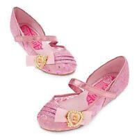 Disney Store Aurora Sleeping Beauty Dress Costume Shoes 2/3 Girls