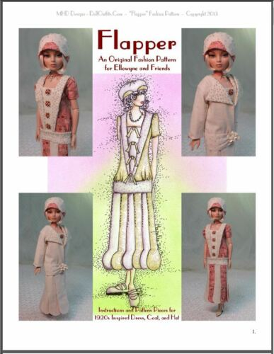"""Flapper"" Fashion Pattern 1920's Inspired Design for Ellowyne and Amber!"