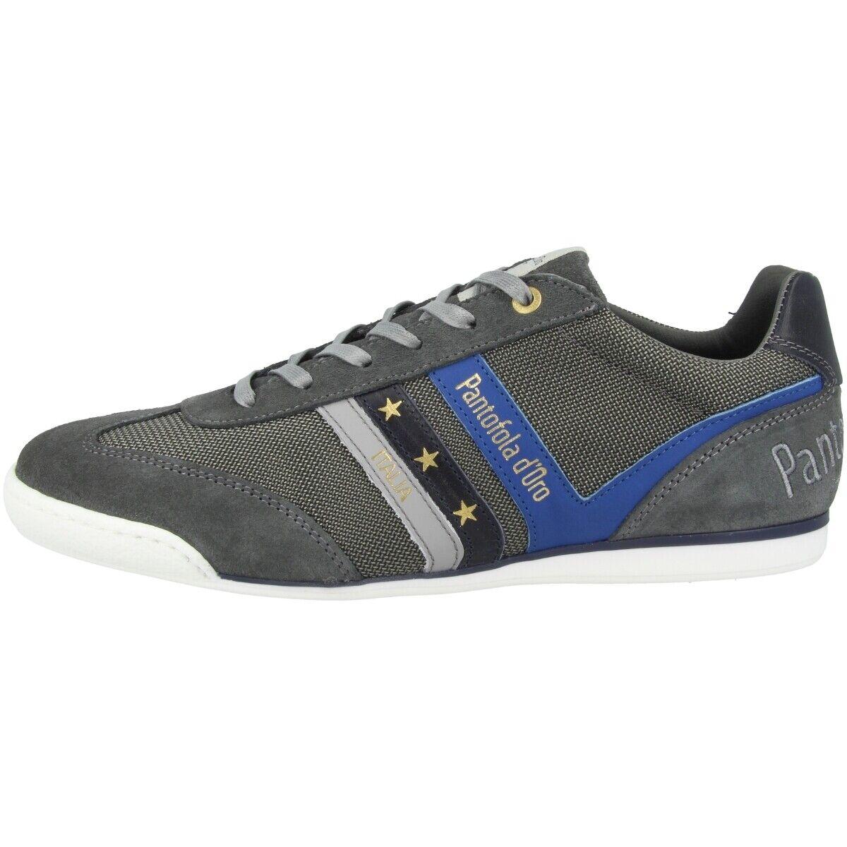 Pantofola d Gold Vasto NB herren Low Loreto Schuhe Herren Turnschuhe grau 10201046.10C