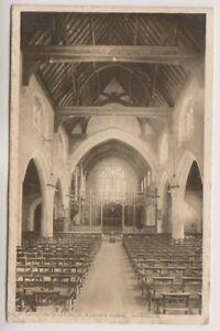 London postcard - St Saviour's Church, Raynes Park (Interior) - P/U 1915 (A1155)