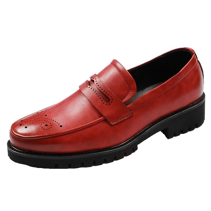 Occident Mens Slip On Loafers Pu Leather Round Toe Party Dress Formal shoes New