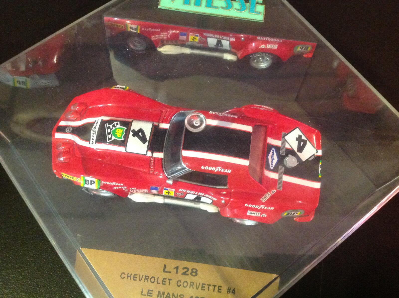 1968 Corvette NART LeMans LeMans LeMans L88 Racer 1 43 Scale Model by Vitesse 1c12fa