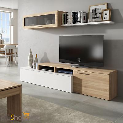 Parete attrezzata moderna mobile tv soggiorno salotto for Salotto casa moderna