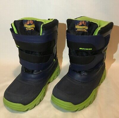 Skechers High Slopes Boots Waterproof Winter Snow Rain Cold Boys Shoes 96111L