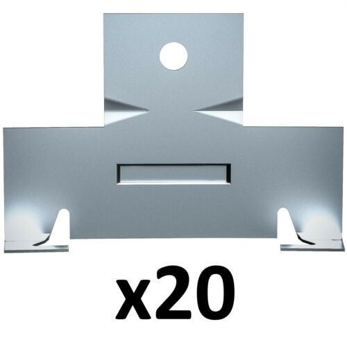 20 Pack (10 Pairs) Retrofit Recessed Downlight Housing C Clips with Screws