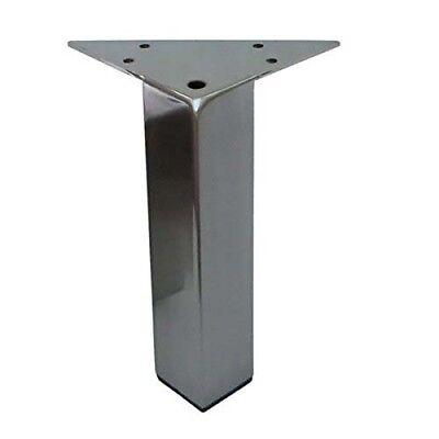"""Set Metal Furniture Legs Metal Legs Feet,Straight Square Brushed Satin 6/"""" 4PC"""