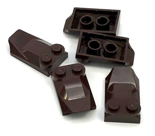 LEGO Bau- & Konstruktionsspielzeug Baukästen & Konstruktion Lego 5 New Dunkelbraun Stein Modifiziert 2 X 3 X 2/3 Zwei Ohrstecker Flügel Ende