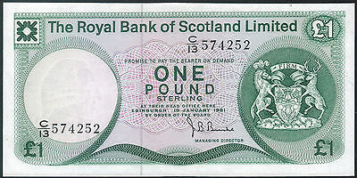 The Royal Bank of SCOTLAND Limited 1981 1 Pound banknote p-336 UNC