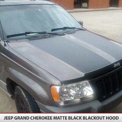 Blackout Hood Decal Textured Black install kit Fit Jeep Grand Cherokee 99-04 WJ