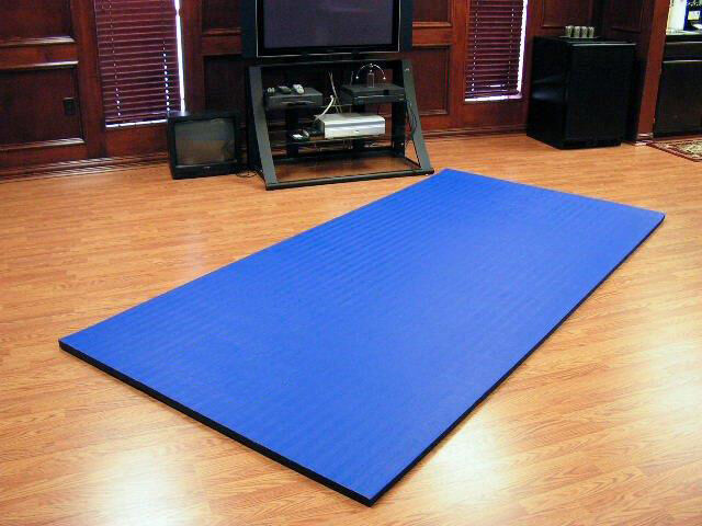 10'x5'x1.25  Dollamur Flexi-Roll® MMA Tatami Texture Mat -Royal bluee
