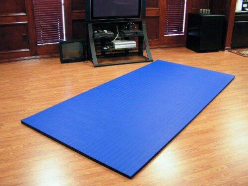 "10/'x5/'x1.25/"" Dollamur Flexi-Roll® MMA Tatami Texture Mat Royal Blue"