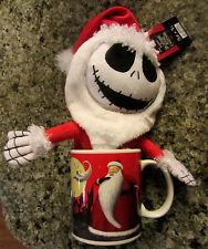 DISNEY Nightmare Before Christmas SANTA Ceramic Mug with Santa Jack Plush