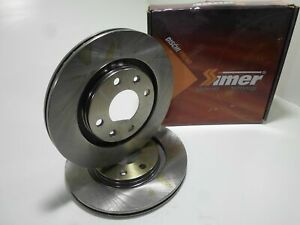 Pair Front Brake Discs Pair Of Brake Disc Front Simer PEUGEOT 308 1.6