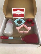 American Girl Pancake Set In Box Molds Bottle Spatula ~ NIB