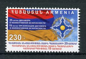 Armenie-2017-neuf-sans-charniere-Traite-de-securite-collective-25th-Anniv-1-V-Set-militaire-timbres