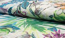 Feinjersey Ausbrenner Jersey exotische Blüten Meterware Damenstoff 1 Meter