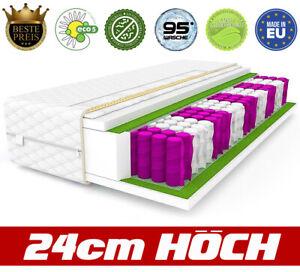 Matratze-Premium-90-x-200-Matratzen-9-zonen-24-cm-Federkernmatratze