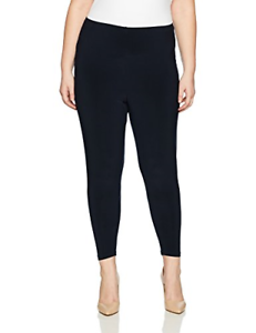 Sympli Women's Plus-Size Fitted Legging, High Rise, Navy, 1X