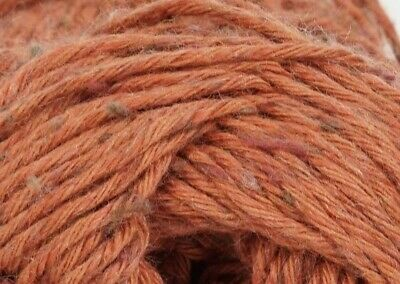 KRAEMER YARNS~TATAMY TWEED~COTTON BLEND DK~PUMPKIN~Orange~NEW