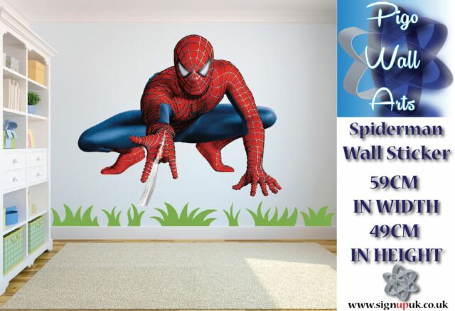 Spiderman Wall Art Sticker Super Hero Childrens room decor large