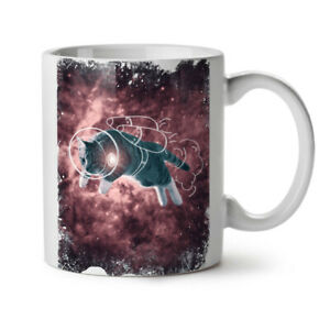 Cat Astronaut Funny NEW White Tea Coffee Mug 11 oz   Wellcoda