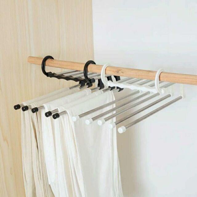 Adjustable Closet Organizer Trouser Pants Ties Scarf Shawl Rack Towels Hanger