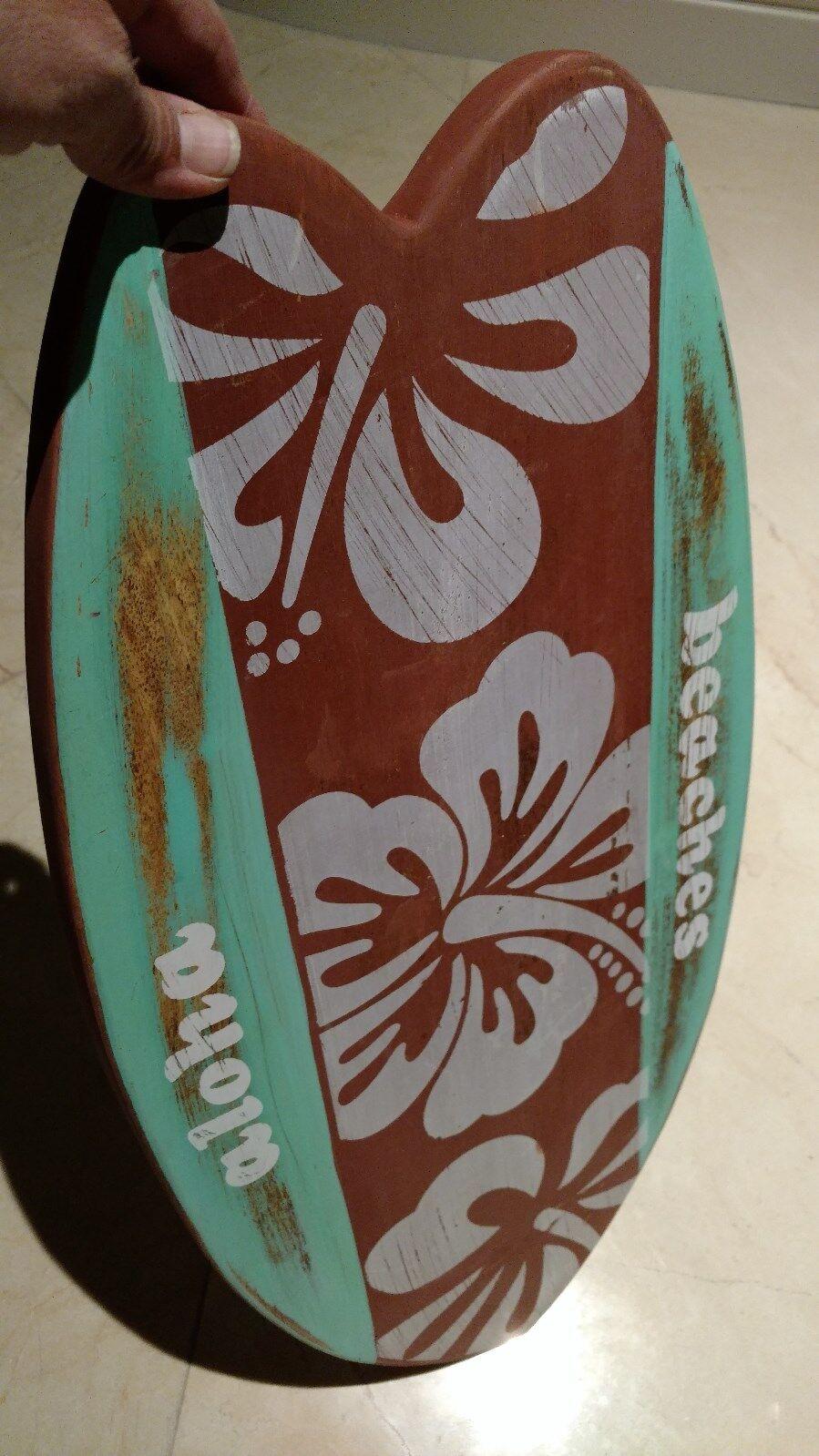 Margaritaville Aloha cheeseboard 5 Grand Hawaii peint à la main NEW EXTRA LARGE 23