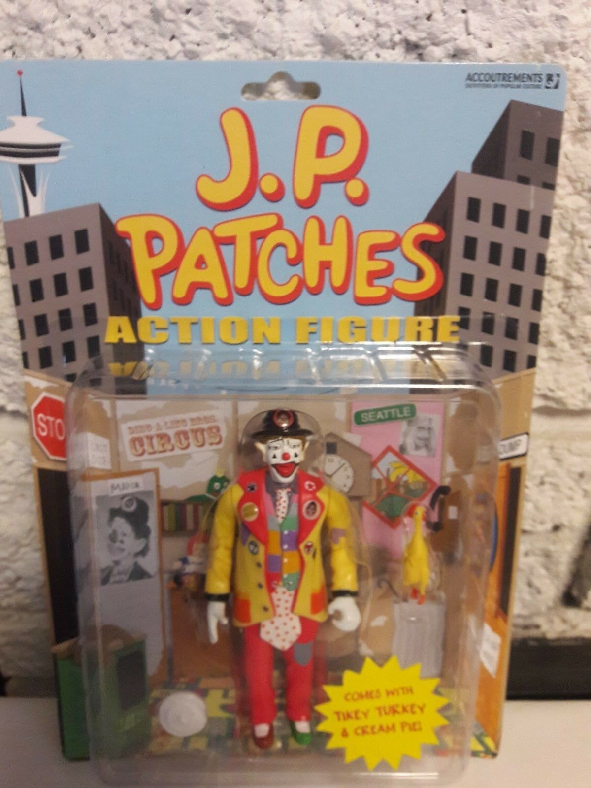 2003 J.P. PATCHES CLOWN ACTION FIGURE ACCOUTREMENTS NIP