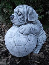 Hund Mops mit Solaraugen Figur Solar Solarlaterne Garten Gartenfigur