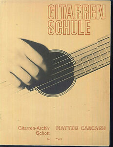 034-Gitarrenschule-034-Teil-1-von-Matteo-Carcassi
