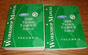 2008 Ford Taurus X Mercury Sable Shop Service Manual ...