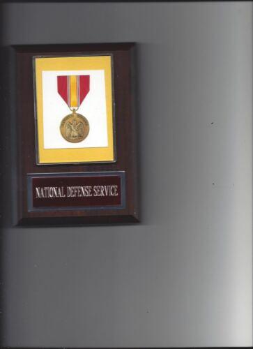 NATIONAL DEFENSE SERVICE MEDAL AWARD PLAQUE MILITARY AWARD US USA PHOTO PLAQUE