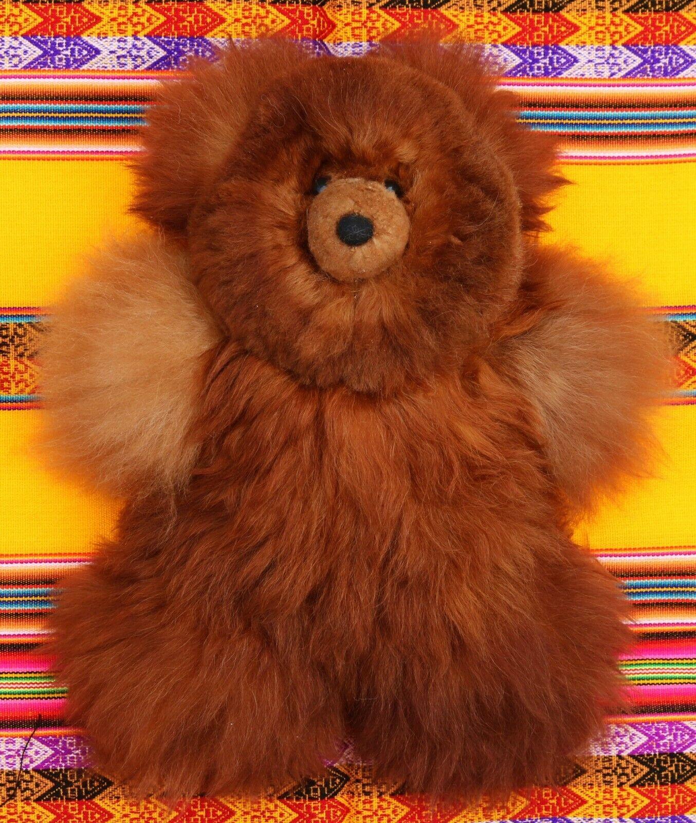 Teddy da Alpaca pelo 39-40 cm, Baby alpaca pelliccia naturale marrone, naturale pelliccia decorazione Perù