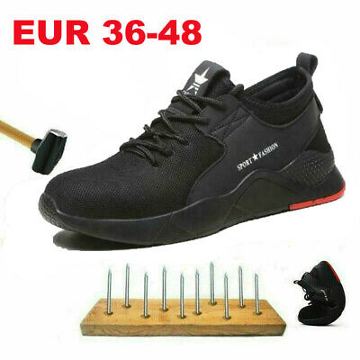 Herren Damen Sicherheitsschuhe Arbeitsschuhe Mit Stahlkappe Schutz EUR36-48 NEU