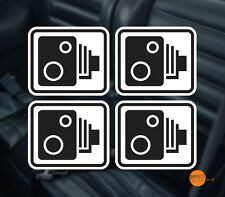 Dashboard Camera Warning Stickers 4x 80x70mm / Car Dashcam Decals / in car CCTV
